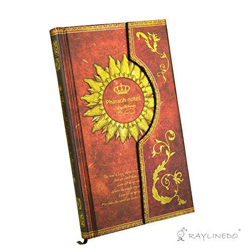 raylinedor-vintage-red-magic-book-diary-notebook-journal-notepad-hard-cover-with-magnetic-clasp