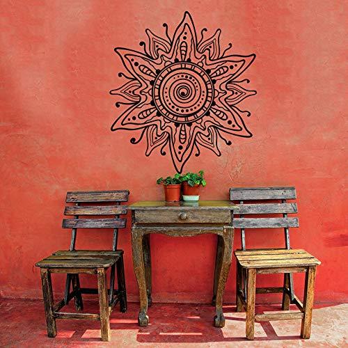 Wandtattoo Blume Mahendi Muster Wandkunst Mandala Vinyl Aufkleber Aufkleber Boho böhmischen Schlafzimmer Indien 42 x 42 cm ()