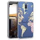 kwmobile Funda para Huawei Mate 10 Lite - Carcasa de TPU para móvil y diseño de Mapa Mundial en...