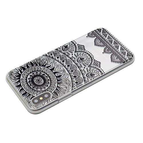 iPhone X Hülle, Voguecase Silikon Schutzhülle / Case / Cover / Hülle / TPU Gel Skin für Apple iPhone X(Buntes my phone) + Gratis Universal Eingabestift Schwarz Durchstochen 01