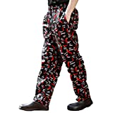 Pantalon de cuisine noir 100 % coton très résistant rouge peppers imprimée 820217