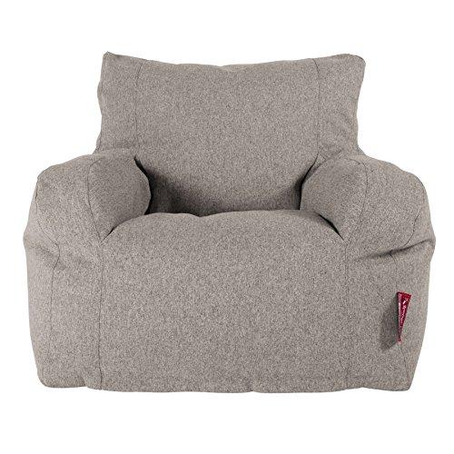Lounge Pug®, Puff Sillón, Lana de Interalli - Plata