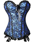 Women's Bustier Plus Size Bridal Lingerie Basque Waist Training Corset + G-string
