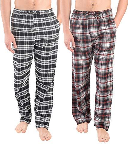 Active Club Herren Pyjamahose aus Flanell, kariert, superweich, Einzelpackung - Mehrfarbig - X-Groß -