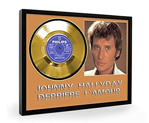 Johnny Hallyday Derriere L'amour Framed Disque d'or Record Vinyl (C1)
