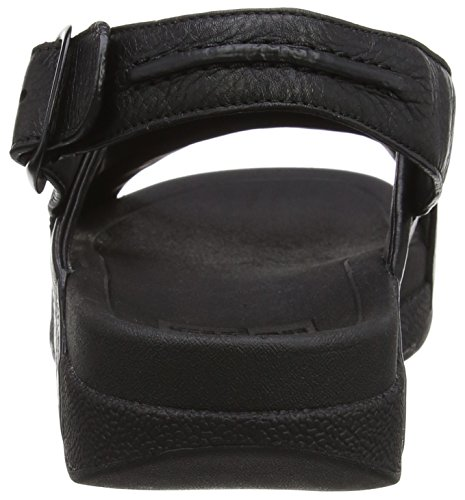 FitFlop Bando Leather Sandals, Sandales  Bout ouvert homme Noir (All Black)n)