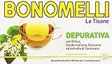 Bonomelli - Tisana, Depurativa, con ortica, cardo mariano, curcuma ed estratto di tarassaco - 12 confezioni da 16 filtri [192 filtri]