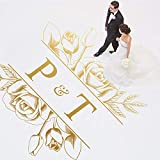 SJXWOL Maison Règles Piste de Danse Decal De Mariage Sol en Vinyle Autocollant Party Piste De Danse Decoration Floral Decoration 154x162cm...