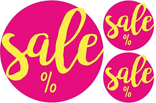 AVERY Zweckform 3847 Sale Aktion Etiketten auf Rolle/Promotion Sticker (selbstklebend, Ø38 / Ø17 mm, im Spender, zuverlässig haftend, rund) 300 Aufkleber