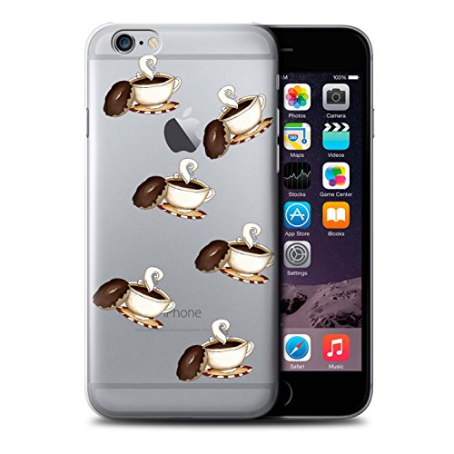 Stuff4 Hülle / Case für Apple iPhone 6S+/Plus / Pizza Muster / Stück Lebensmittel Kollektion Kaffee/Krapfen