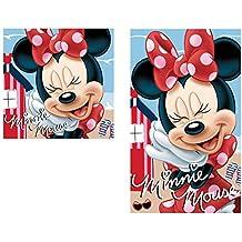 Set 2 toallas baño poliester de Minnie Mouse