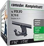Rameder Komplettsatz, Anhängerkupplung abnehmbar + 13pol Elektrik für Volvo XC70 II (143340-06391-1)
