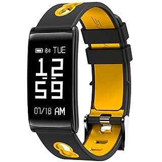 RUNACC Fitness Armband Herzfrequenz Tracker Smart Armband Uhr Smartband Armbanduhr mit Pedometer und Schlaf Monitor Funktion für Android iOS (B)