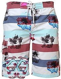 Mens swim shorts Tokyo Laundry 1S2083 surf board trunks & flip flops