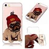 iphone se/5/5s Case, iphone se/5/5s Silicone TPU Transparent Cover, Cozy Hut iphone se/5/5s Luxury Shining Bling Printing Drawing Design Scratch Resistant TPU Bumper Clear Flexible Silicone Back Soft Protective Case Cover for iphone se/5/5s - puppy