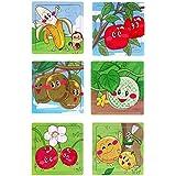 Akrobo Wooden Jigsaw Puzzle For Kids, Fruit Theme ( 16 Piece Per Puzzle, 6 Puzzle )
