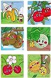 #10: Akrobo wooden Jigsaw puzzle for kids, Fruit Theme ( 16 Piece per puzzle, 6 Puzzle )