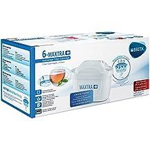 Brita MAXTRA+ Pack de 6 Filtros para El Agua, Cartuchos de Filtrado , Recambios Compatibles con Jarras Brita que Reducen la Cal y el Cloro