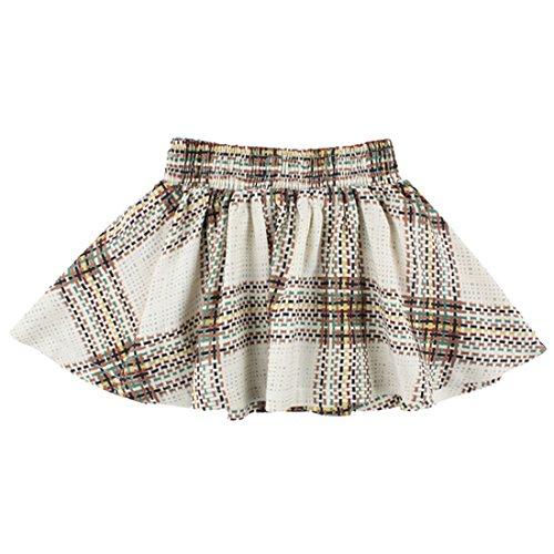 Small Rags Mädchen Baby- und Kinderrock, 100% Rayon, Beige-Grün-Braun-Schwarz, Gr. 74, Bay Skirt Silver Birch 60208