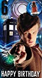 Doctor Who Age 6 Birthday Card with Badge by Portico