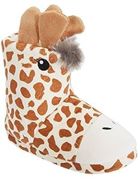 Universal Textiles Kinder Stiefel Hausschuh 3D Tier-Design