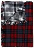 eleganter Damen Winter Schal - schottisches Streifen Muster - kariert XXL (schottisch rot blau)