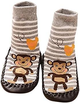 Socken Longra Cartoon Baby Jungen Mädchen Anti Rutsch Socken Schuhe Stiefel Slipper Socken(0 -24 Monate)