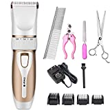 Hundeklipper Hundesalon Clippers Cordless Pet Haar Rasierer Elektrische Clippers Grooming Trimmer Kit Für Katzen Haustiere Warterproof Low Noise,White