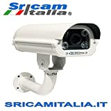 SRI-IPA01W Ip Camera Lettura Targhe LPR 2 megapixel SONY Varifocal Lens 6-22mm IP66 LCD software di riconoscimento Supporta microSD