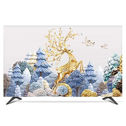 Monitor Hülle Polyesterbezug Staubdichtes, antistatisches LCD- / LED- / HD-Display-Schutzgehäuse Kompatibel mit Curved-TV, Desktop-TV und Hänge-TV-65Zoll-B