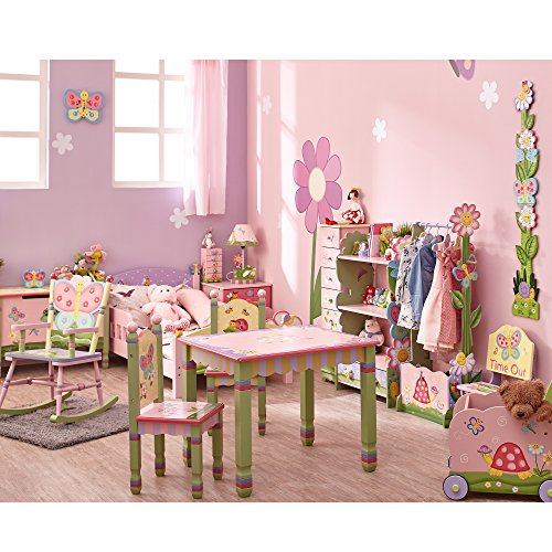 Teamson Design Corp Fantasy Fields Magic Garden Rocking Bed for Dolls