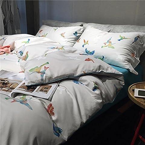 GZXCPC Bettzeug 4ST für King size 1 Decke Abdeckung 1 Flatsheet 2 Kissenbezüge (220 * 240 cm/86,6 * 94,4 inch)