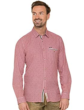 Stockerpoint Trachtenhemd Langarm Modern Fit Taylor Rot