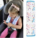 1x HECKBO cinturón de coche unicornio protector de la niña hombreras cinturón protector de hombros cojín de hombro asientos de coche almohadillas de cinturón para niños y adultos