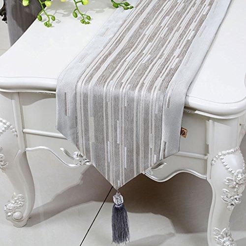 Hochwertiger Tischläufer Einfache Klassische Chenille Baumwolle Leinen Streifen Tischläufer Esstisch Tischdecke Couchtisch Tuch Wohnzimmer Küche Restaurant Hotel Dekoration KKY-ENTER ( größe : 33*230cm ) -
