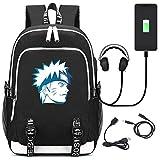 Sac à Dos avec Port de Charge USB Naruto Modèle Antivol Cartable pour étudiant...