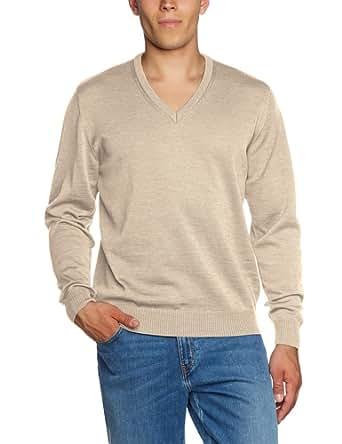 Maerz Herren Regular Fit Pullover, Gr. 58 Beige (130)