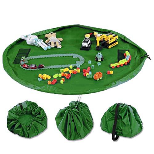 Dooppa Kinderspielzeug-Organizer Aufbewahrungstasche & Spielmatte, große Spielzeugtasche, Kinder-Teppich, tragbar, Kinderspielzeug, Organizer mit Kordelzug zum Öffnen und Schließen einfach 152,4 cm -