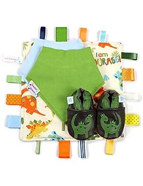 Dotty Fish Leder Babyschuhe Geschenkbox - Baby Jungen und Mädchen - 0-6 Monate, 6-12 Monate, 12-18 Monate, 18-...