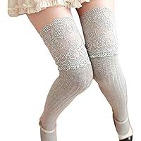Pizzo Inverno donne sopra il ginocchio scaldino del piedino morbido