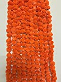 #9: SPHINX ARTIFICIAL MARIGOLD FLUFFY FLOWERS GARLANDS FOR DECORATION - PACK OF 5 (Orange)