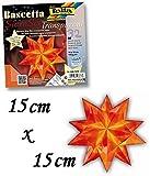 Folia Bascetta Stern Bastelset Transparentpapier 115g/m² 15x15 cm 32 Blatt orange 840/1515