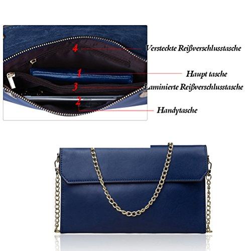 Honeymall del Blu del del cuoio donne borsa delle della Faux messaggero Crossbody borsa della della del spalla Borse Blu r0rfF