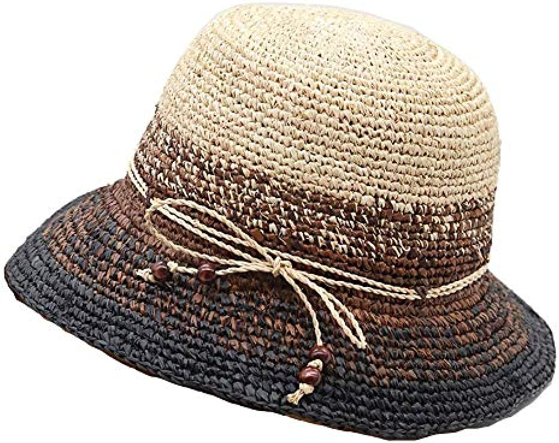 Crystallly Berretti Donna da Donna Berretti Mare Cappello Elegante Estivo  Femminile Visiera da Stile Semplice Spiaggia Cappello... Parent b5cffe 8cf3ad905f23