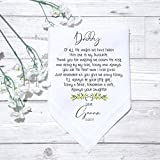 Personalised Father Of the Bride Groom Handkerchief Gift Keepsake Wedding Gift