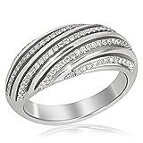 Goldmaid Damen-Ring Linien Exklusiv 585 Weißgold 95 Diamanten SI/H 0,48 ct. Gr. 56 Pa R3687WG56 Brillanten Diamantring Verlobung