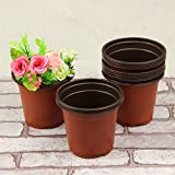 New Wholesale flower pots, outside the red, black interior, wrestling is not bad flowerpot garden(light, thin) 10 pcs