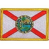 Hegibaer Florida Autokennzeichen Fl Usa Us Bundesstaaten Patch Aufnäher Aufbügler 0610 Auto
