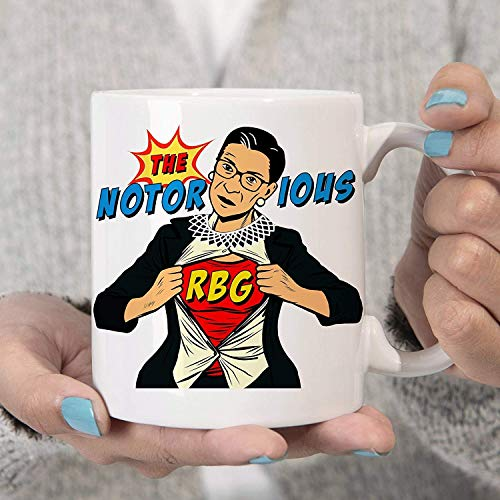 ChGuangm The Notorious RBG Coffee Mug Ruth Bader Ginsburg Superhero Cup Microwave Dishwasher Safe Coating Proudly Made in USA Limited Edition