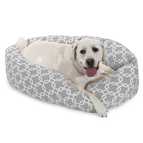 Majestic Pet 101,6 cm Grigio Links Sherpa Bagel Dog Bed